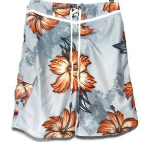Billabong Mens Size 29 Gray Hawaiian Board Shorts